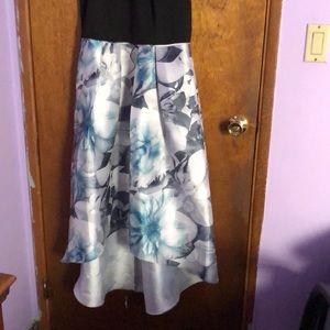 SL Fashions Dresses - Black/Blue flower printed dress
